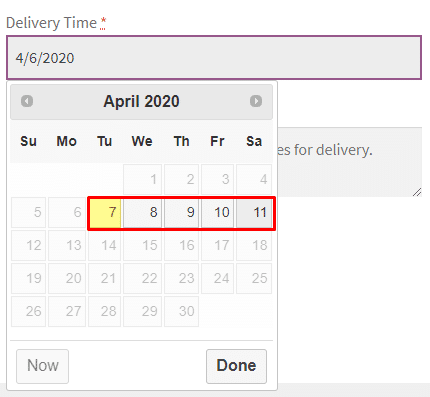 WooCommerce Delivery Time Picker for Shipping - Admin Settings